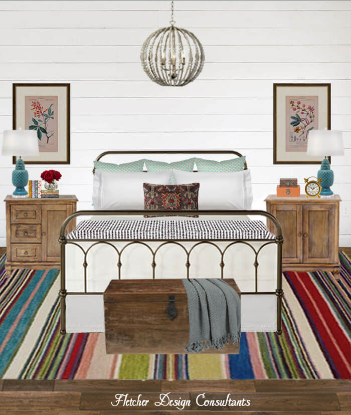 Colorful Vintage Room: Colorful Contemporary Vintage Bedroom